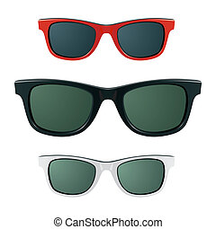 Sunglasses - Detailed vector illustration Just place on face...