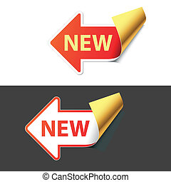 Sign New Easy editable vector