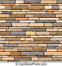 Stone wall Seamless pattern - Vector illustration of...