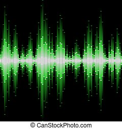 Sound waveform. Seamless vector. - Seamless vector...