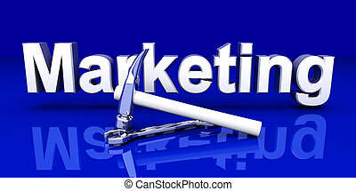 Marketing Tools - Tools for Marketing. 3D rendered...
