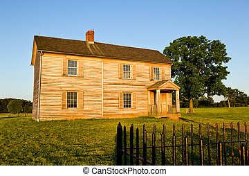 Benjamin Chinn House at Manassas Battlefield - Sunset view...