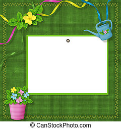Card for greeting or congratulation on the abstract background