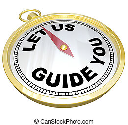 Compass - Let Us Guide You Support and Service - A gold...