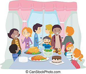 Housewarming - Illustration of a Housewarming Party