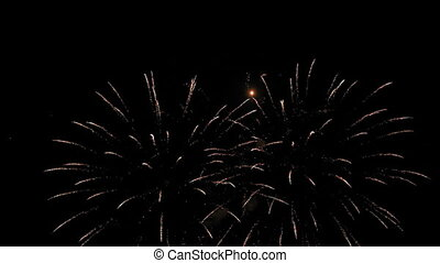 Victorious salute - Very beautiful and colorful fireworks in...