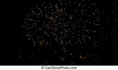 Massive fireworks - Very beautiful and colorful fireworks in...