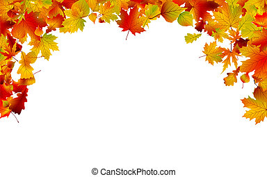 Autumn colored leaves framing EPS 8 - Autumn colored leaves...