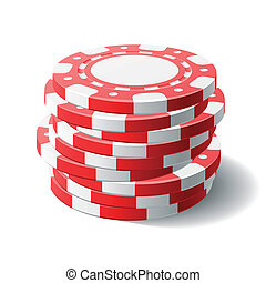 Gambling chips - Vector illustration of gambling chips
