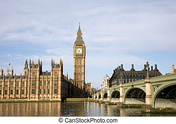 Big Ben, Palace of Westminster - Palace of Westminster seen...