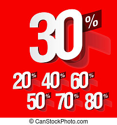 Sale percents - Vector illustration of sale percents