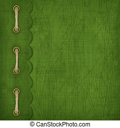 Cover with gold clip and braid Design album for St Patricks...