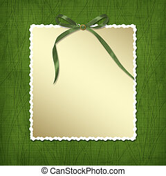 Framework for invitations A green bow Design album for St...