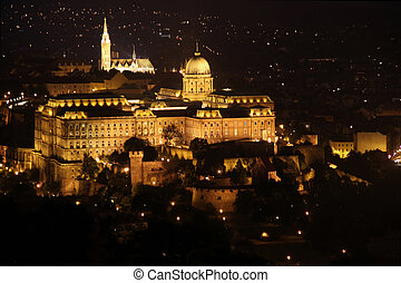 view of Buda castle, Budapest, Hungary from Citadel