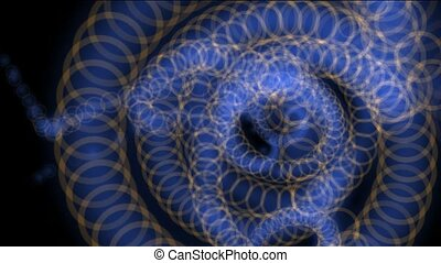 swirl ancient dragon and snake totem,swirl flower...
