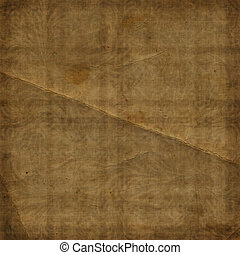 Grunge brown background with ancient ornament. Vintage...