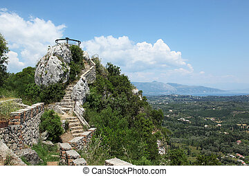 Kaizers Throne Corfu - view from the Kaizers Throne in...