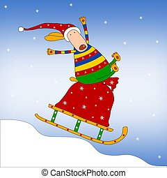 Christmas illustration - Colorful graphic illustration for...