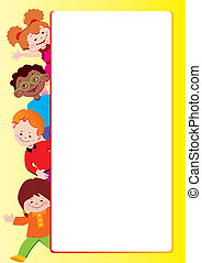 Children frame. Place for your text. Vector...