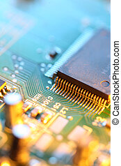 Circuit board abstract background texture Macro close-up