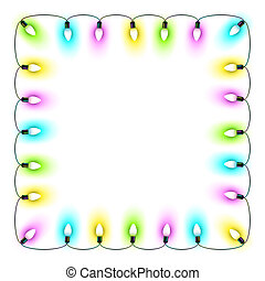 Christmas lights - Vector illustration of Christmas lights