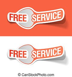 Free service labels - Vector illustration of Free service...