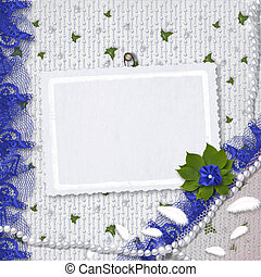 Card for anniversary or congratulation with pearls and bunch...