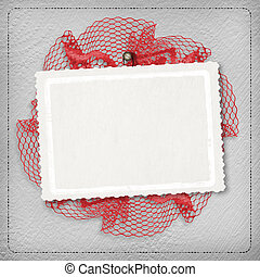 Silver abstract background with card for greeting or...