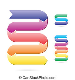 Stages of process chart - Easily editable vector...