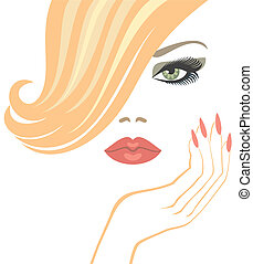 makeup - glamour  blonde