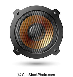 Speaker - Vector illustration of speaker with grille