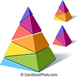 Layered pyramids - Vector illustration of layered pyramids