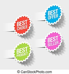 best choice, best offer tags - Vector illustration of best...