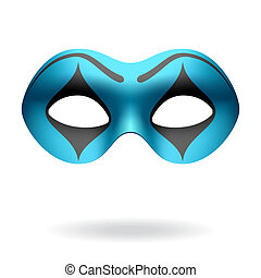 Masquerade mask - Vector illustration of a masquerade mime...