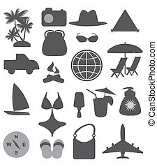 travel and beach icons