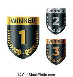 Awards - Vector illustration of gold, silver and bronze...