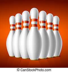 Bowling pins - Vector illustration of bowling pins