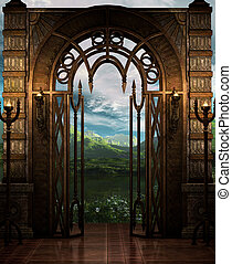 The Gate - A Fantasy-Art style place.