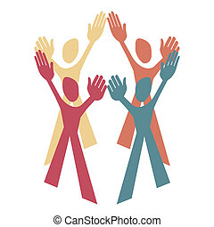Teamwork design.  - Teamwork design with a white background.