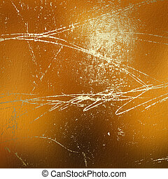 Grunge abstract background with gold classical pattern