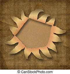 Wrinkled paper with hole
