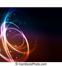 glowing abstract background - Stylized abstract background...