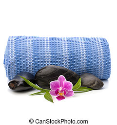 Spa concept. Towel roll.