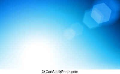 Abstract blue flare background