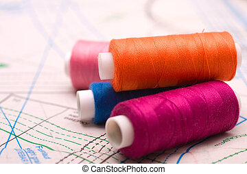 Spool of thread. Sew accessories. - Spool of thread. Sew...