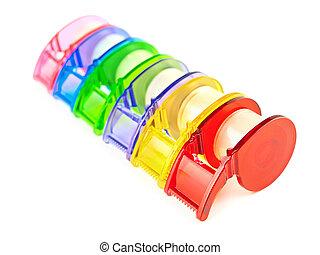 Multicolored Scotch tape