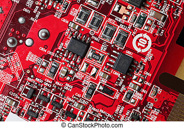 Complex circuit board background texture