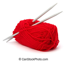 Woollen thread and knitting needle Needlework accessories...