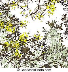 Flower Art Digital Painting Background - Flower Yellow Art...