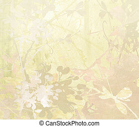 Pastel Flower Art on Paper Background